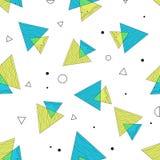 Nahtloses abstraktes geometrisches Muster Stockbilder