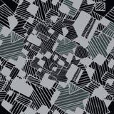 Nahtloses abstraktes geometrisches Muster in den weißen und grauen Farben Stockbilder