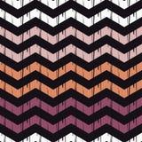 Nahtloses abstraktes geometrisches Muster Die Beschaffenheit des Zickzacks brushwork Handausbrüten Lizenzfreies Stockfoto
