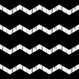 Nahtloses abstraktes geometrisches Muster Die Beschaffenheit des Zickzacks brushwork Handausbrüten Lizenzfreies Stockbild