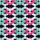Nahtloses abstraktes geometrisches Muster Die Beschaffenheit des Zickzacks brushwork Handausbrüten Lizenzfreie Stockfotos