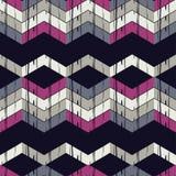Nahtloses abstraktes geometrisches Muster Die Beschaffenheit des Zickzacks brushwork Handausbrüten Lizenzfreie Stockfotografie