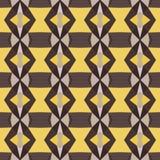 Nahtloses abstraktes geometrisches Muster mit Streifen Lizenzfreie Stockbilder
