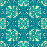 Nahtloses abstraktes geometrisches Muster mit Unikatwiederholung lizenzfreie abbildung