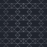 Nahtloses abstraktes geometrisches Muster Silberner Hintergrund Lizenzfreie Stockfotos
