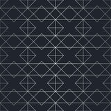 Nahtloses abstraktes geometrisches Muster Silberner Hintergrund Lizenzfreies Stockbild