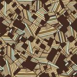 Nahtloses abstraktes geometrisches Musterlicht und dunkelbraune Farben Lizenzfreie Stockfotos