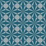 Nahtloses abstraktes geometrisches Vektormuster in der Knickentenfarbe lizenzfreie abbildung