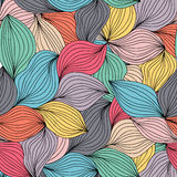 Nahtloses abstraktes gewelltes von Hand gezeichnetes Muster Endloses abstraktes patt Lizenzfreie Stockfotografie