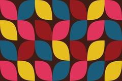 Nahtloses, abstraktes Hintergrundmuster gemacht mit buntem Tropfen wie curvy geometrischen Formen vektor abbildung