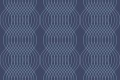 Nahtloses, abstraktes Hintergrundmuster gemacht mit curvy dünnen Linien lizenzfreie abbildung