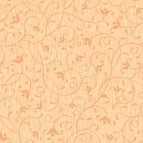 Nahtloses abstraktes Holz geschnitzte Blumenverzierung Lizenzfreie Stockbilder