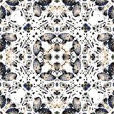 Nahtloses abstraktes Kaleidoskopmuster Leopard-Druck Lizenzfreie Stockfotos