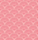 Nahtloses abstraktes korallenrotes Fanmuster des Vektors lizenzfreie abbildung