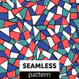 Nahtloses abstraktes Mosaikmuster mehrfarben stock abbildung