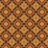 Nahtloses abstraktes Mosaikmuster mit warmen Farben Lizenzfreie Stockfotografie