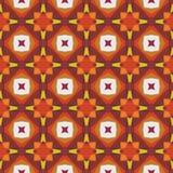 Nahtloses abstraktes Mosaikmuster mit warmen Farben Lizenzfreies Stockbild