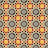 Nahtloses abstraktes Mosaikmuster mit warmen Farben Lizenzfreie Stockbilder