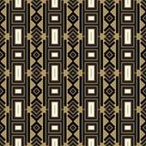 Nahtloses abstraktes Muster in der ethnischen Art Stockfotos