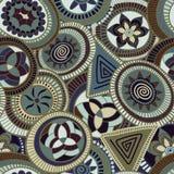 Nahtloses abstraktes Muster des Vektors in der afrikanischen Art Lizenzfreie Stockbilder