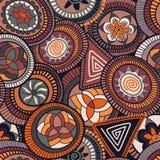 Nahtloses abstraktes Muster des Vektors in der afrikanischen Art Stockfotos