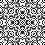 Nahtloses abstraktes Muster des Vektors Schwarzweiss Abstrakte Hintergrund Tapete lizenzfreie stockfotografie