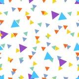 Nahtloses abstraktes Muster gemacht von den bunten Dreiecken Stockbilder