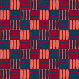 Nahtloses abstraktes Muster im geometrischen Stil Lizenzfreie Stockbilder