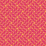 Nahtloses abstraktes Muster im geometrischen Stil Lizenzfreies Stockfoto