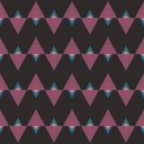 Nahtloses abstraktes Muster mit Dreiecken Lizenzfreie Stockfotos