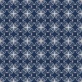 Nahtloses abstraktes Muster mit gebogenen abstrakten Elementen Lizenzfreie Stockfotos