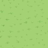 Nahtloses abstraktes Muster mit grünem Gras stockfoto