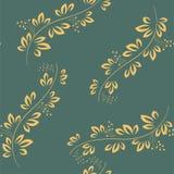 Nahtloses abstraktes Muster mit grünen Elementen Auch im corel abgehobenen Betrag Lizenzfreie Stockbilder
