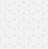 Nahtloses abstraktes Muster mit Hexagonen Stockfoto