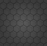 Nahtloses abstraktes Muster mit Hexagonen Lizenzfreie Stockbilder