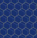 Nahtloses abstraktes Muster mit Hexagonen Lizenzfreie Stockfotos
