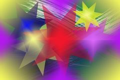 Nahtloses abstraktes Muster mit mehrfarbigen Sternen lizenzfreie abbildung