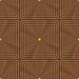 Nahtloses abstraktes Muster mit Quadraten Lizenzfreie Stockbilder