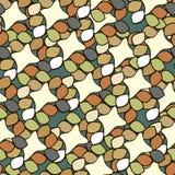 Nahtloses abstraktes Muster mit roten Elementen Auch im corel abgehobenen Betrag Stockfotos