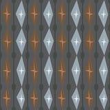 Nahtloses abstraktes Muster mit Sternen und Spaltenhintergrund Lizenzfreie Stockfotografie