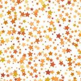 Nahtloses abstraktes Muster mit Sternen von unterschiedlichen Farben und von Gr??e stock abbildung