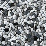 Nahtloses abstraktes Muster von grauen Steinen und von Diamanten Glaskristalle als Hintergrund Lizenzfreie Stockbilder