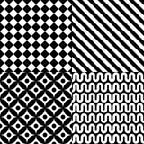 Nahtloses abstraktes Musterset Stockbilder