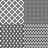 Nahtloses abstraktes Musterset Lizenzfreies Stockbild