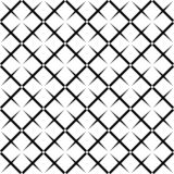 Nahtloses abstraktes quadratisches Schwarzweiss-Schachbrettmuster - Halbtonvektorhintergrunddesign von der Diagonale rundete Quad stock abbildung