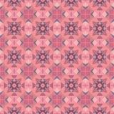 Nahtloses abstraktes rosa Mosaikmuster Lizenzfreie Stockfotos