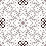 Nahtloses abstraktes Schwarzweiss-Muster Stockfotografie