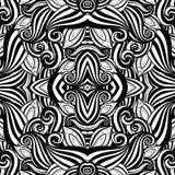 Nahtloses abstraktes Stammes- Muster (Vektor) Lizenzfreies Stockbild