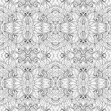 Nahtloses abstraktes Stammes- Muster (Vektor) Stockfotografie