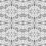 Nahtloses abstraktes Stammes- Muster (Vektor) Lizenzfreie Stockfotografie